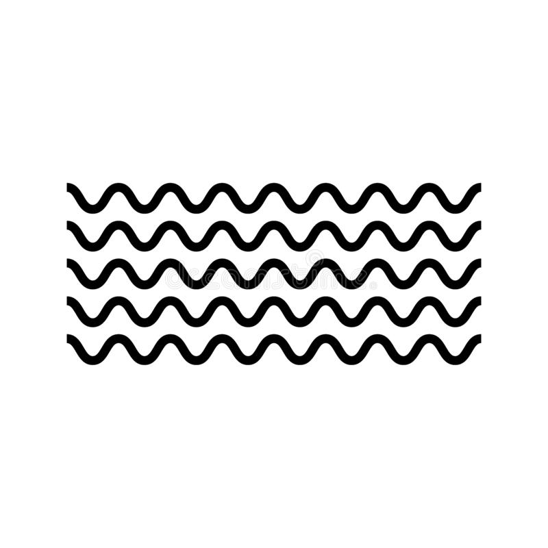 Wave icon vector . Vector abstract background. Vector design abstract illustration stock illustration