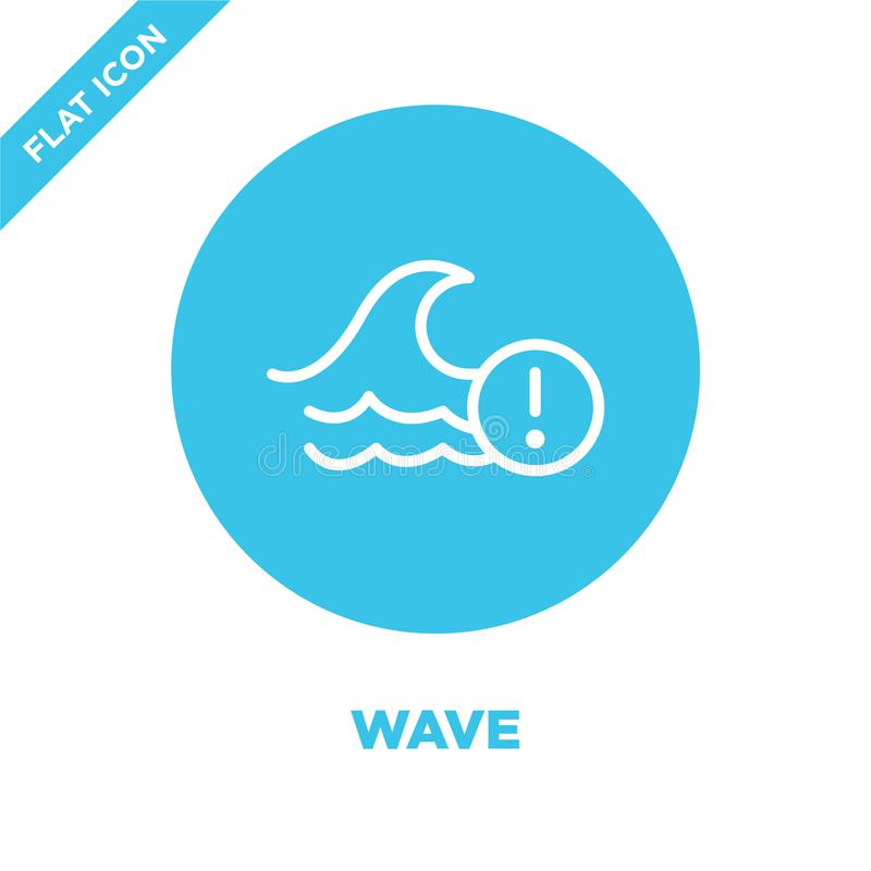 Wave icon vector from weather collection. Thin line wave outline icon vector  illustration. Linear symbol for use on web and. Mobile apps, logo, print media stock illustration