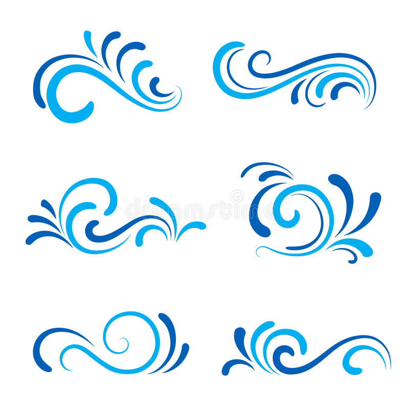 Wave icons royalty free stock photos