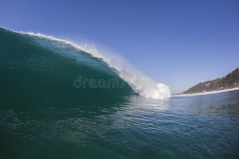 Wave Inside Blue stock photo