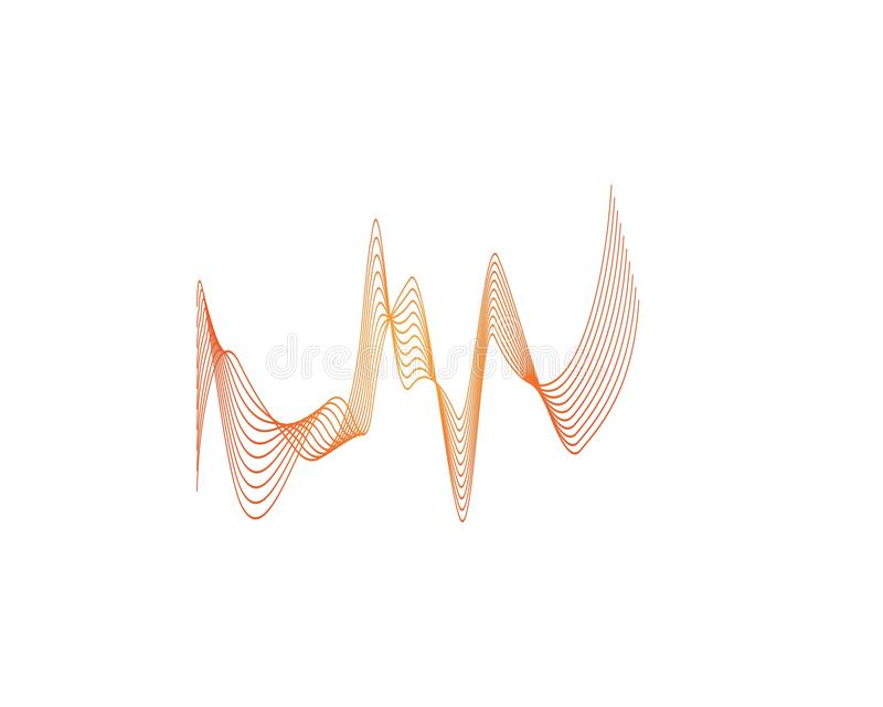 Wave line color logo vector. Lines sound abstract design logos wavy illustration icon technology symbol graphic concept shape element creative gradient black stock illustration