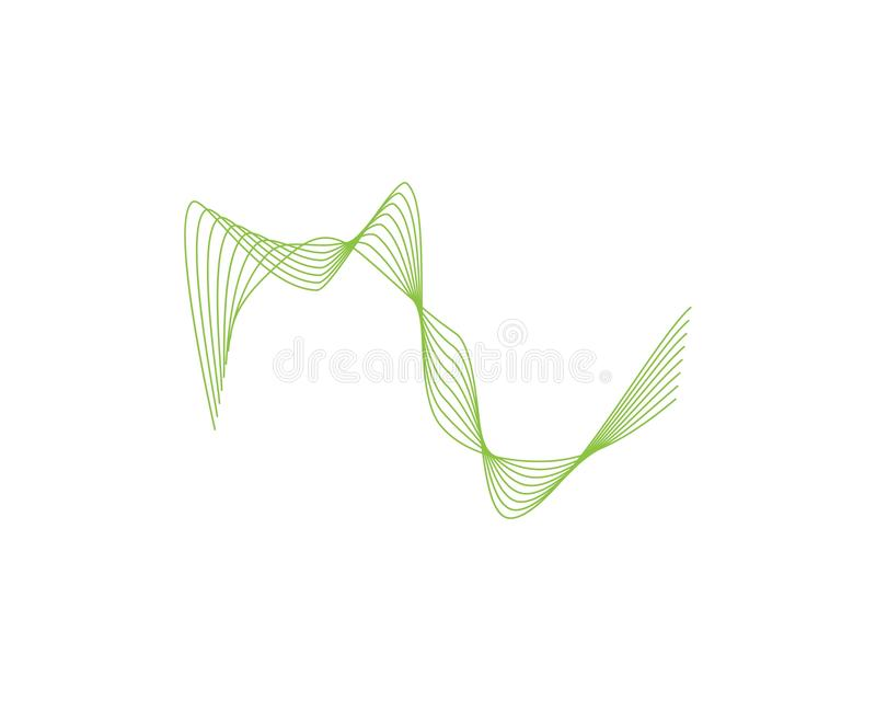 Wave line color logo vector. Lines sound abstract design logos wavy illustration icon technology symbol graphic concept shape element creative gradient black royalty free illustration