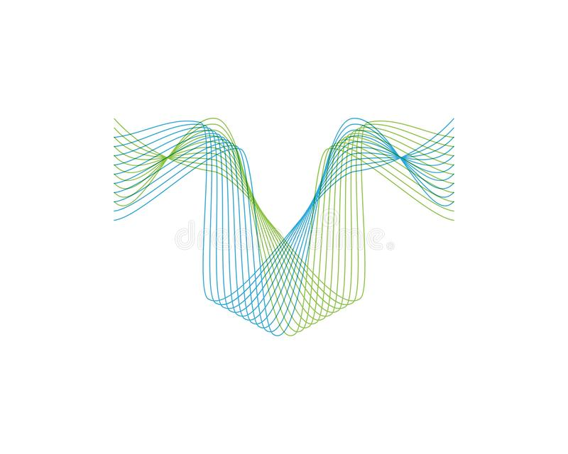 Wave line color logo vector. Lines sound abstract design logos wavy illustration icon technology symbol graphic concept shape element creative gradient black vector illustration