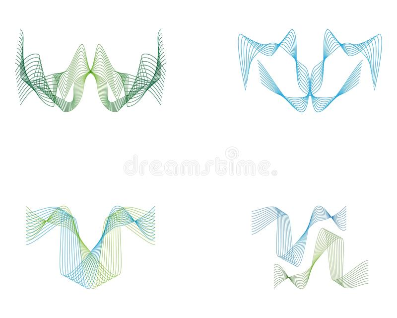 Wave line full color logo vector. Lines sound abstract design logos wavy illustration icon technology symbol graphic concept shape element creative gradient vector illustration