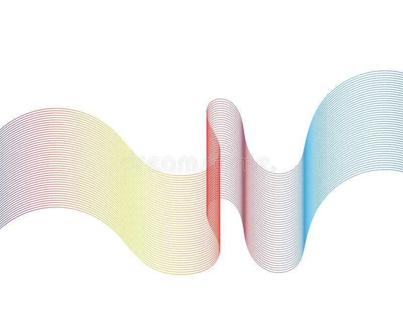 Wave line illustration vectors. Wave line illustration vector royalty free illustration