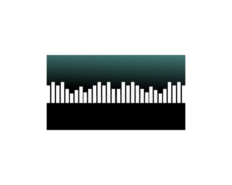 Wave line music and sound vector equalizer logo. Laser, network, modern, electronic, audio, media, disco, pattern, blur, digital, innovation, pulse, glowing vector illustration