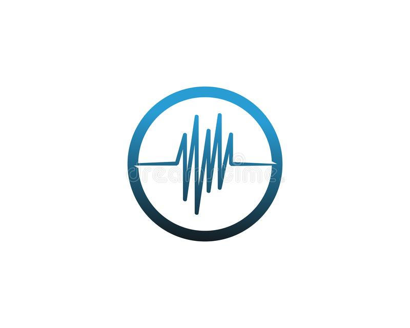 Wave line music and sound vector equalizer logo. Laser, network, modern, electronic, audio, media, disco, pattern, blur, digital, innovation, pulse, glowing stock illustration