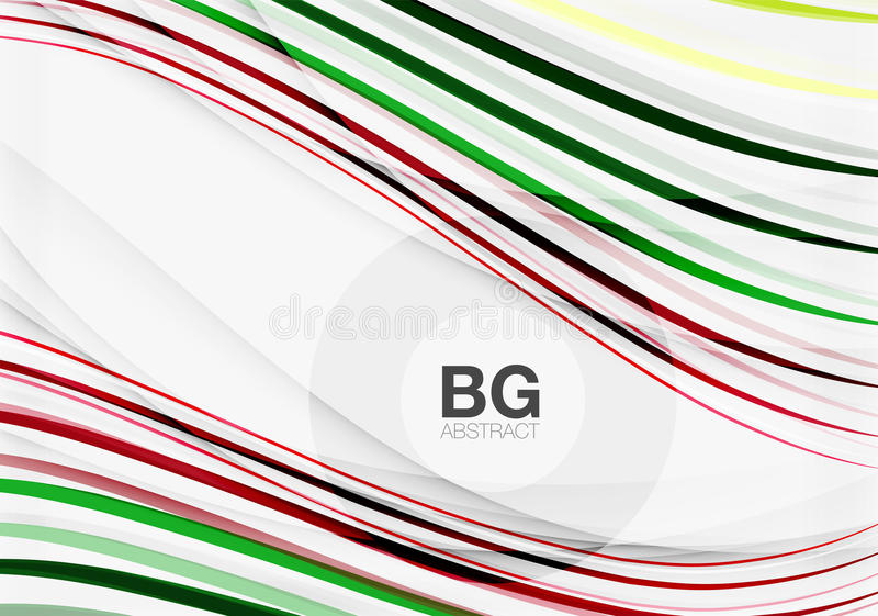 Wave lines abstract background. Vector template background for workflow layout, diagram, number options or web design royalty free illustration