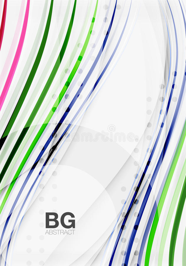 Wave lines abstract background. Vector template background for workflow layout, diagram, number options or web design stock illustration