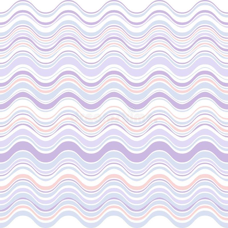 Wave lines pattern, pastel colors. Vector illustration stock illustration