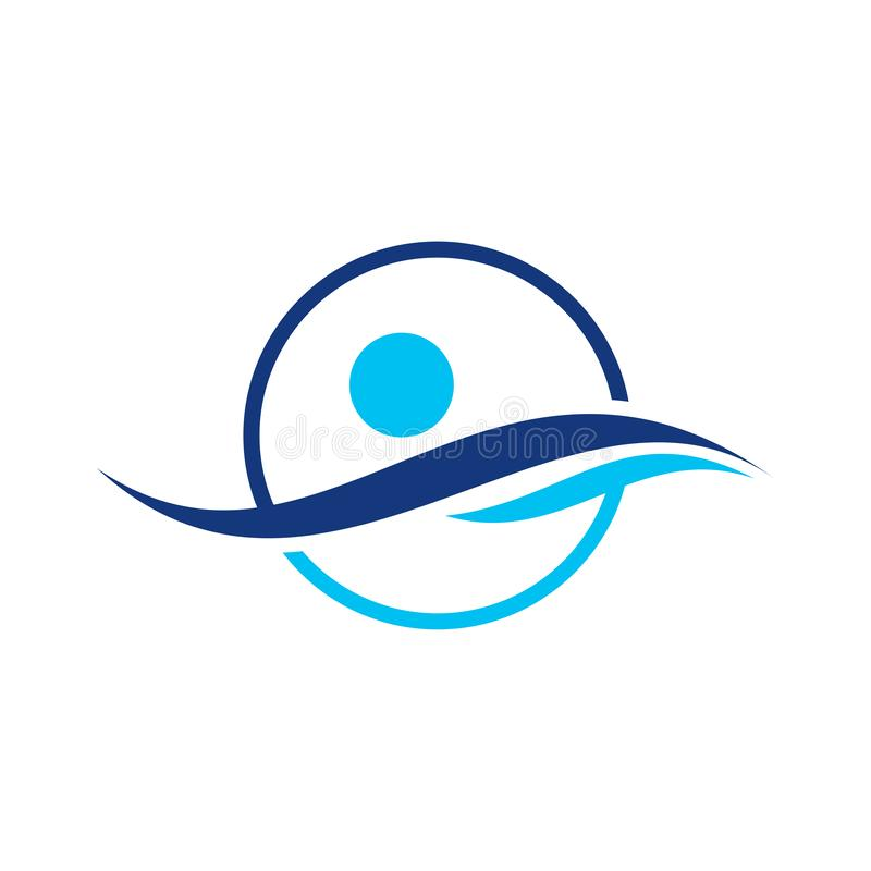 Water wave vector illustration logo, Water Wave Icon, Water Wave Logo Template vector illustration design icon. vector illustration