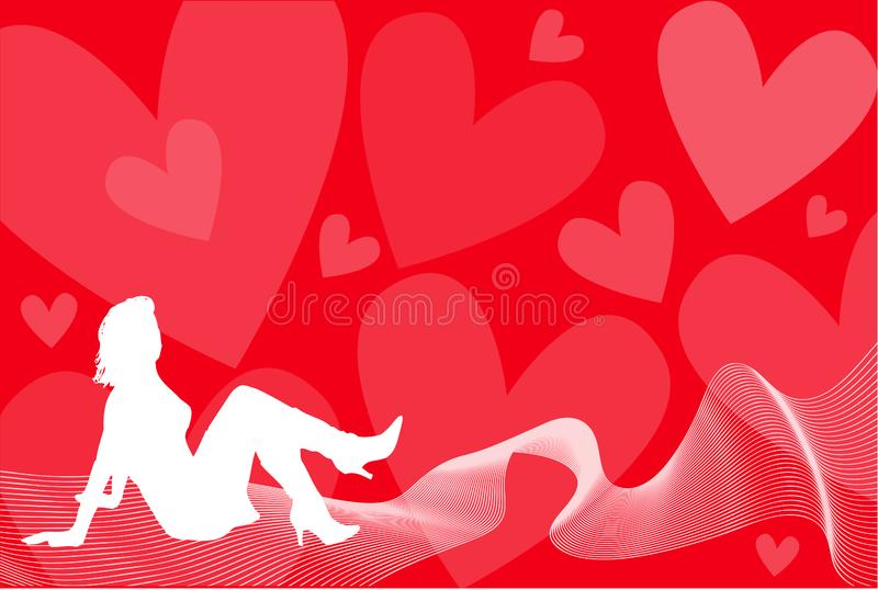 Wave of love stock photos