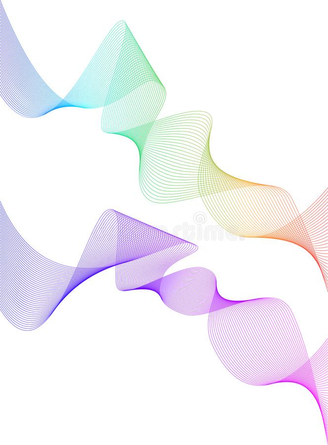 Design element wavy ribbon from many lines05 vector illustration