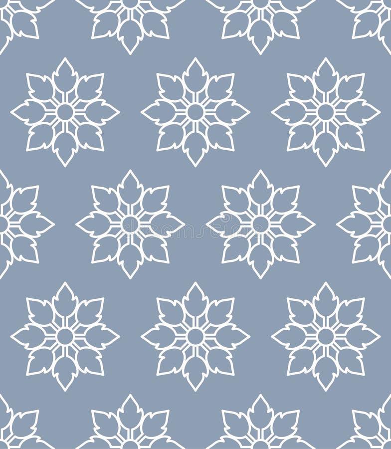 Thai Eight Petal Seamless Pattern vector illustration