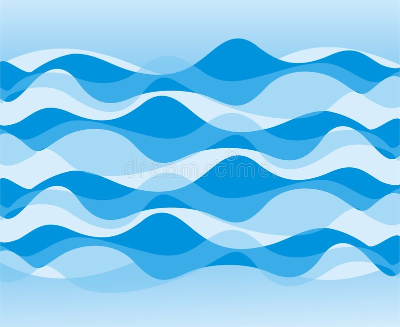 Wave pattern royalty free illustration