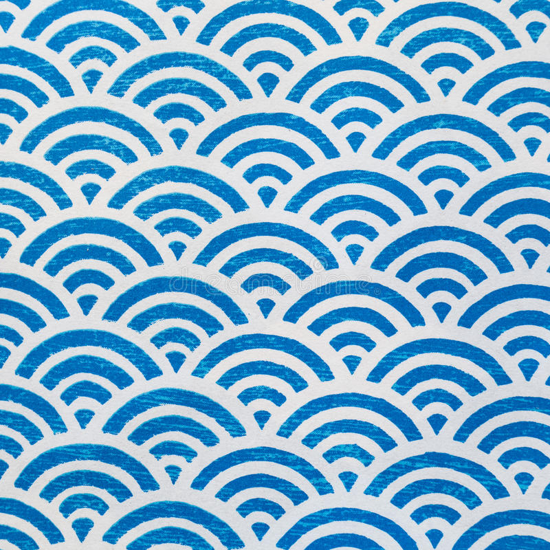 Wave Pattern paper. Blue and white stock photos