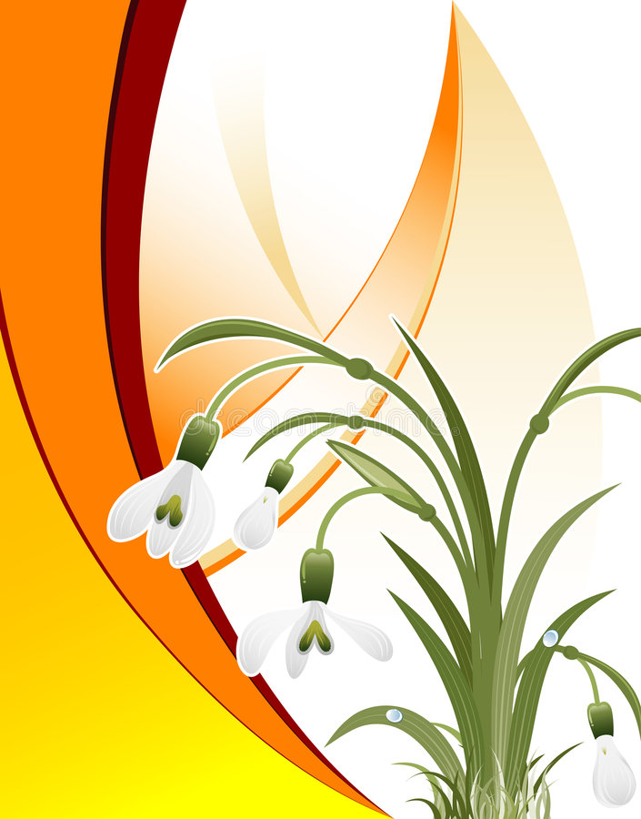 Download Wave Pattern With Snowdrop Stock Photos - Image: 4600793