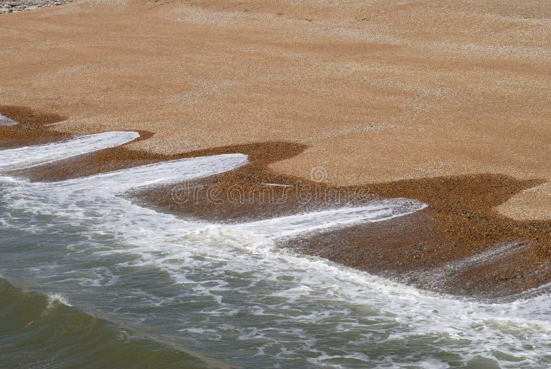 Wave patterns on shingle beach