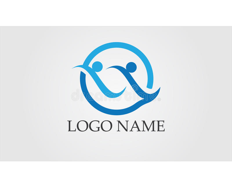 Wave people Logo Template vector icon design stock illustration