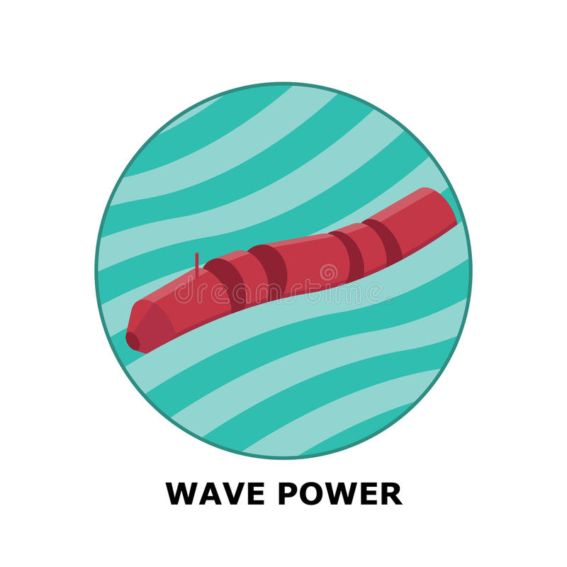 Wave Power, Renewable Energy Sources - Part 4 vector illustration