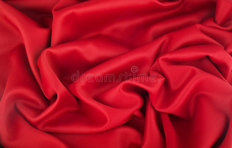 Wave of Red cotton. Texture stock photo