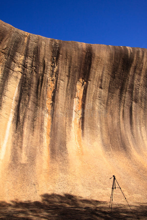 Wave rock stock image