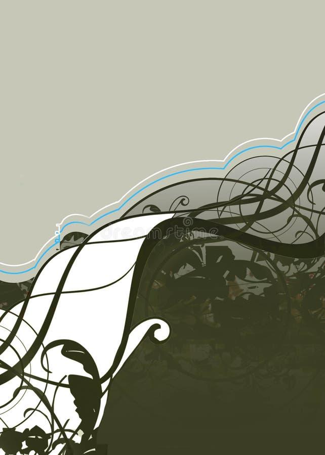 Wave s of garden stock illustration