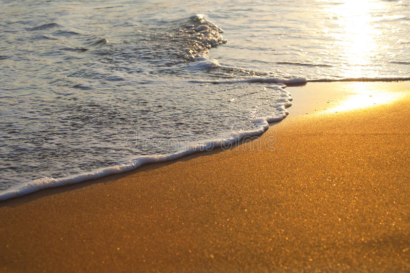 Download Wave on sandy beach stock photo. Image of abstract, environment - 16152920