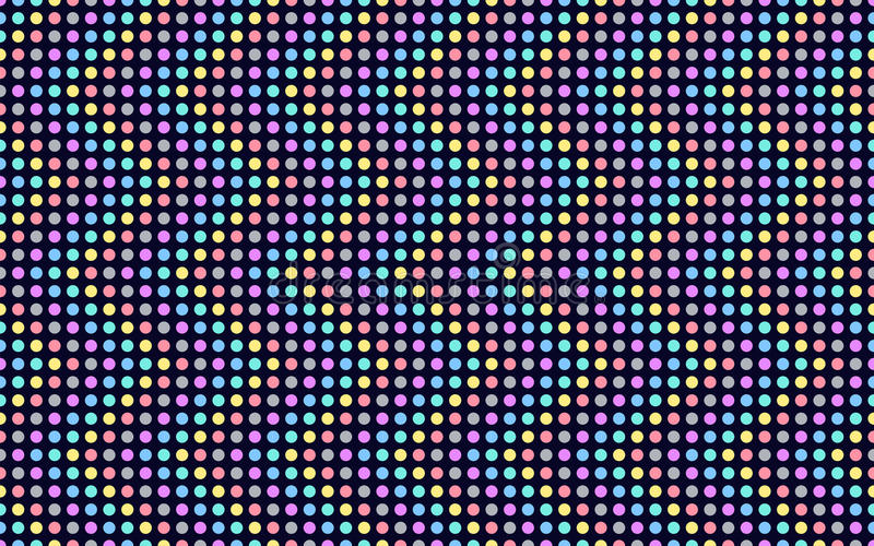 Wave series of colored dots. royalty free illustration