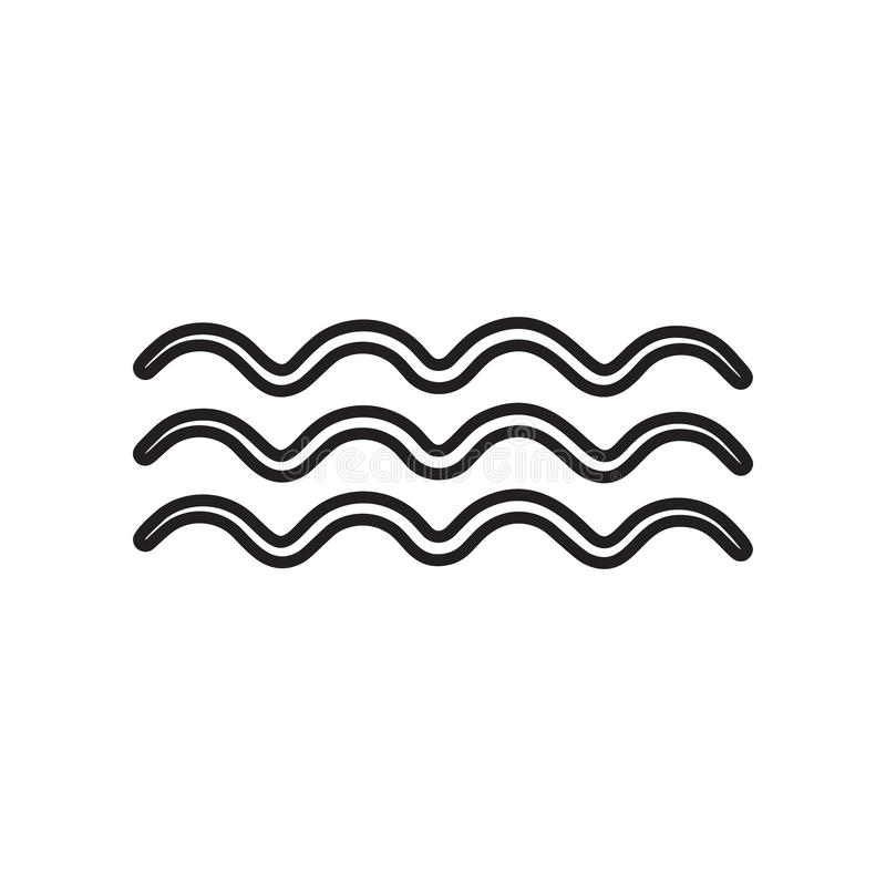 Wave sign icon. Element of Weather for mobile concept and web apps icon. Outline, thin line icon for website design and. Development, app development on white royalty free illustration