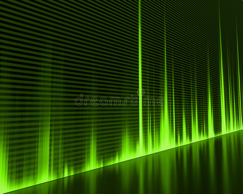 Wave Sound. Graphic of a digital sound. Abstract Background stock illustration
