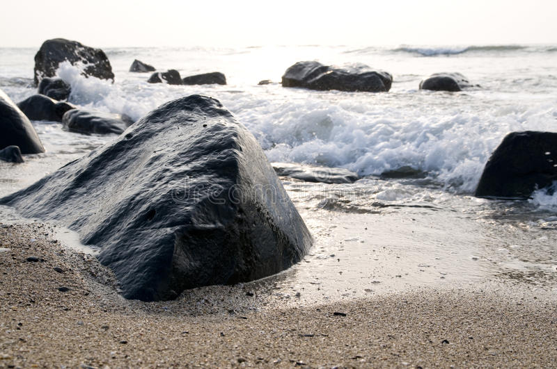 Download The wave and stone stock photo. Image of wave, concept - 10769760