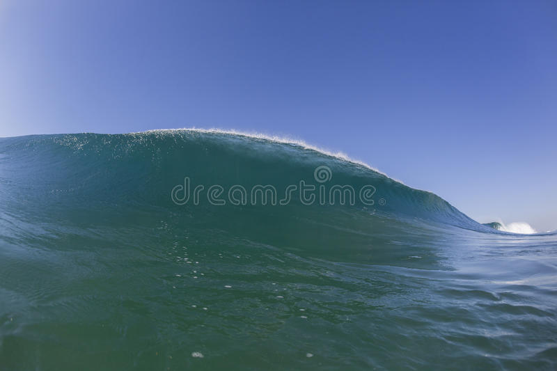 Wave Swimming Landscape stock photo