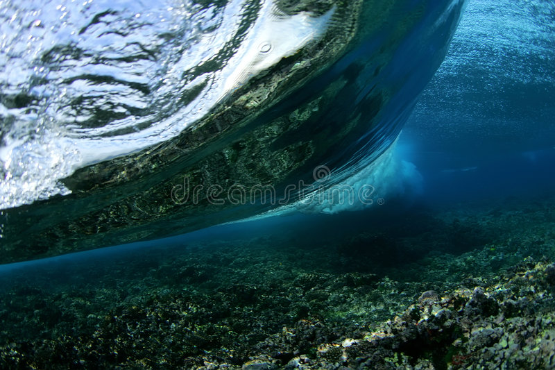 Wave from Underwater stock photos