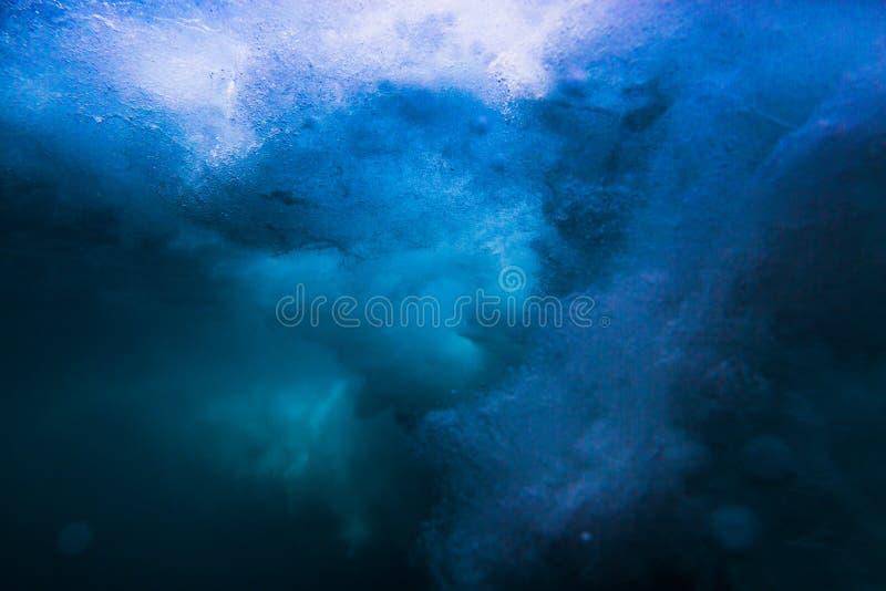 Wave underwater background. Ocean in underwater royalty free stock photos