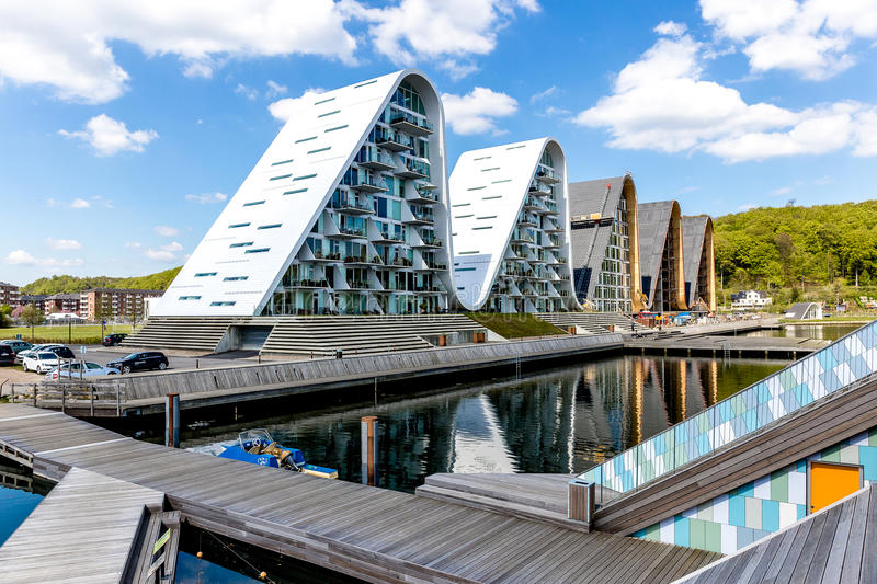 The wave at Vejle royalty free stock image
