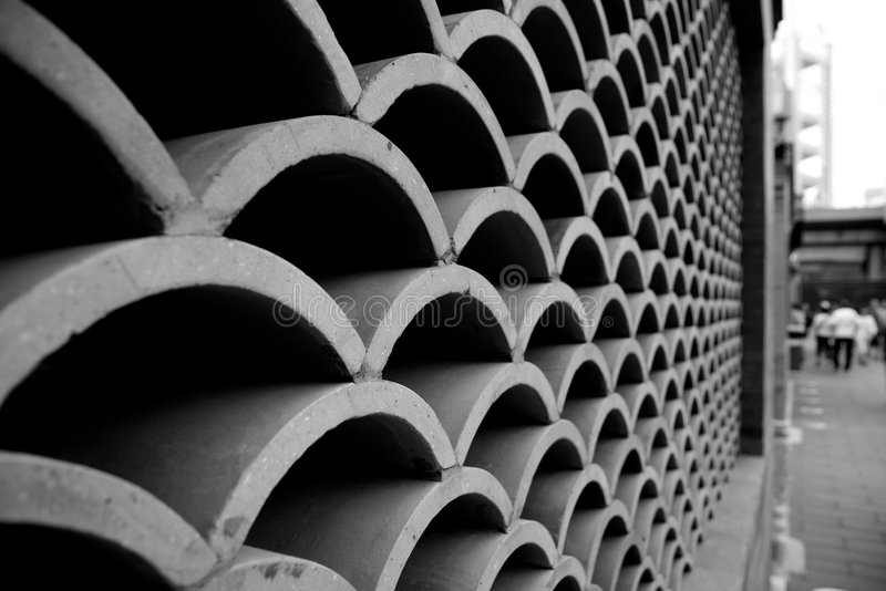 Download Wave wall near Bird's Nest stock photo. Image of wall - 8172890