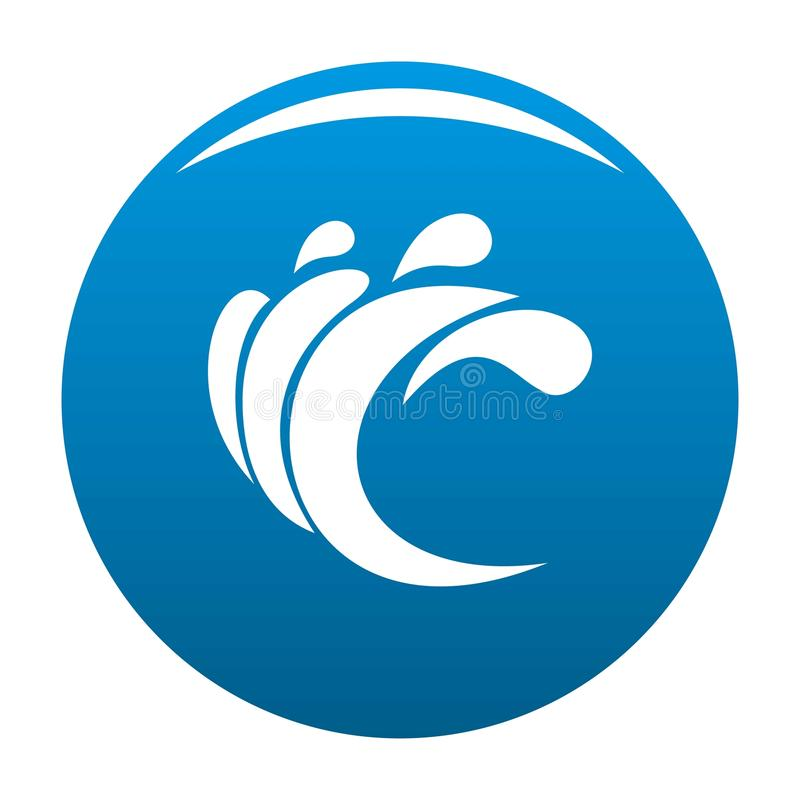 Wave water composition icon blue. Circle isolated on white background royalty free illustration