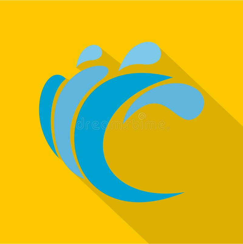 Wave water composition icon, flat style. Wave water composition icon. Flat illustration of wave water composition icon for web royalty free illustration