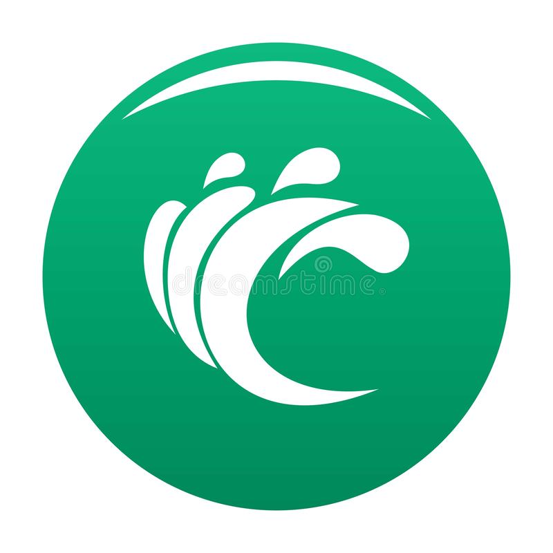 Wave water composition icon vector green. Wave water composition icon. Simple illustration of wave water composition vector icon for any design green vector illustration