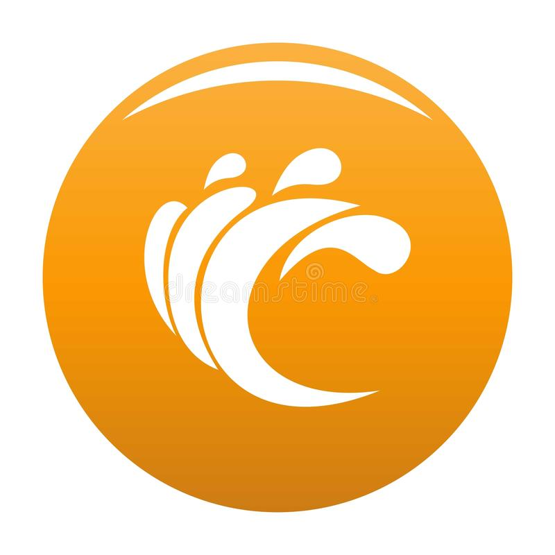 Wave water composition icon vector orange. Wave water composition icon. Simple illustration of wave water composition vector icon for any design orange stock illustration
