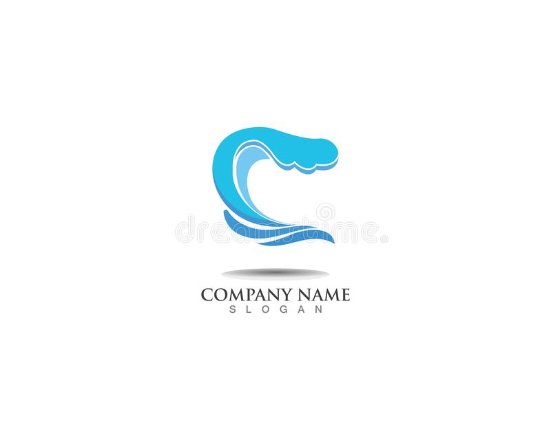 Wave water Splash logo vector illustration. Wave water Splash logo vector illustration royalty free illustration
