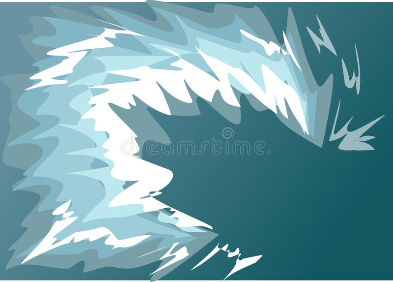 Wave water a tsunami. Wave, water, a tsunami, a funnel, a breaker stock illustration