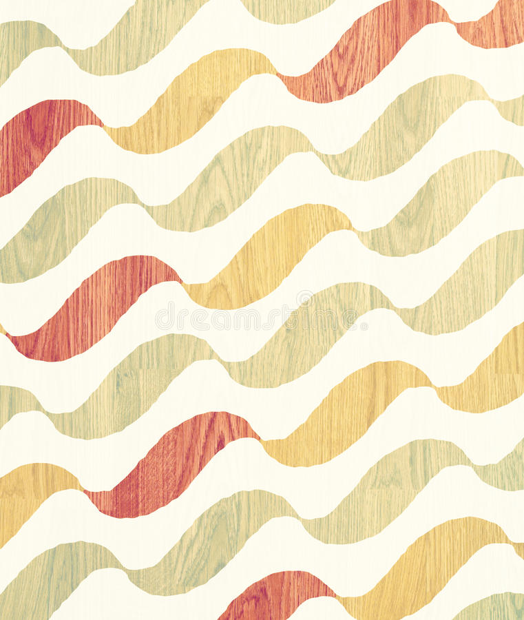 Free Wave Wooden Pattern Royalty Free Stock Image - 27235676
