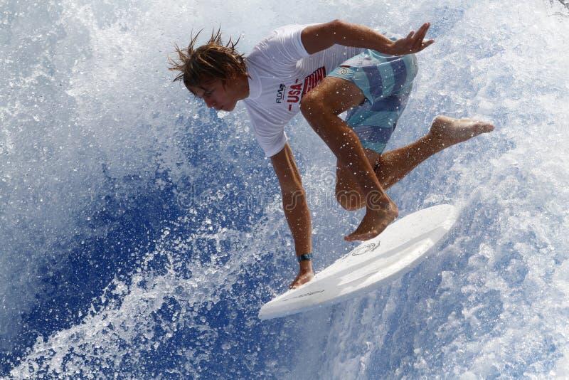 Waveboard世界冠军马略卡 免版税库存图片