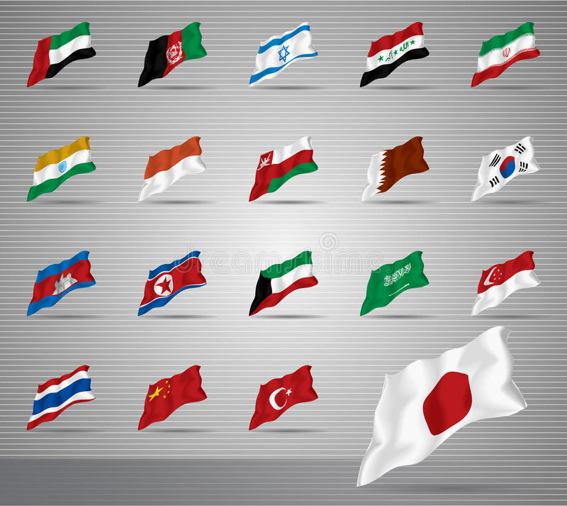 Download Waved national flags stock photo. Image of moving, shiny - 27693988