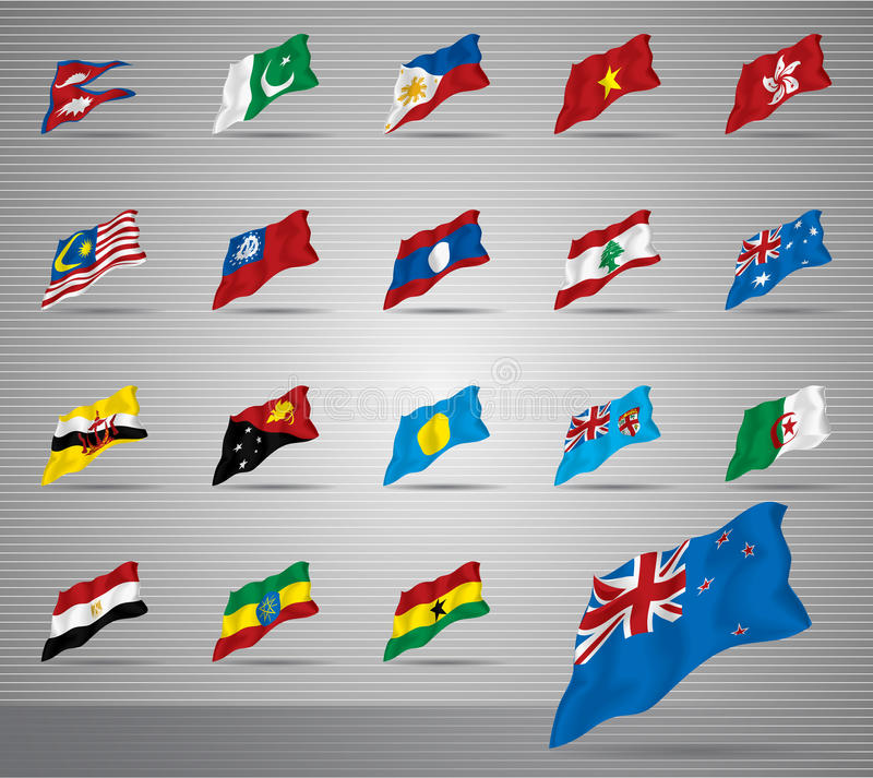 Download Waved national flags stock photo. Image of vietnam, brunei - 27694020