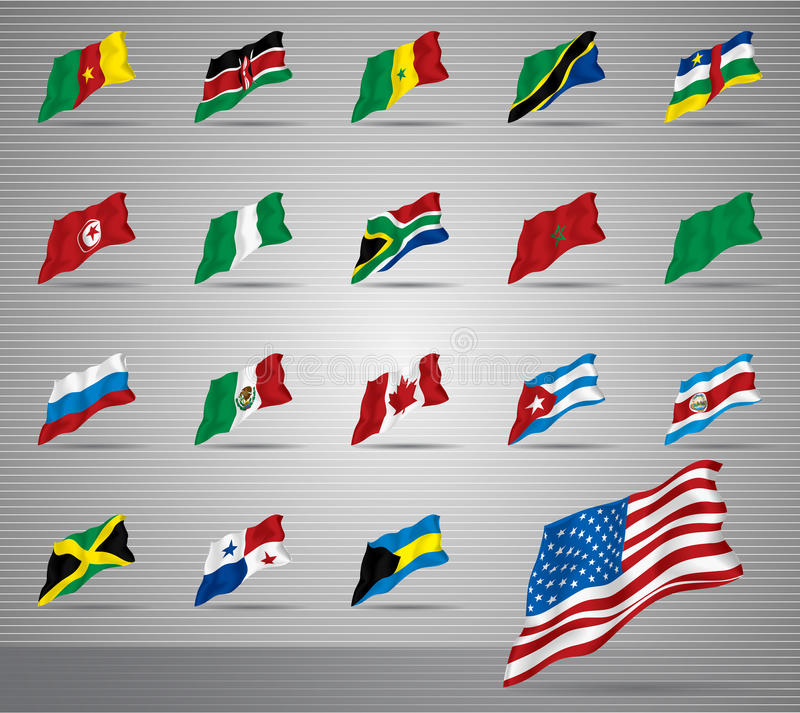 Download Waved national flags stock image. Image of america, africa - 27694105