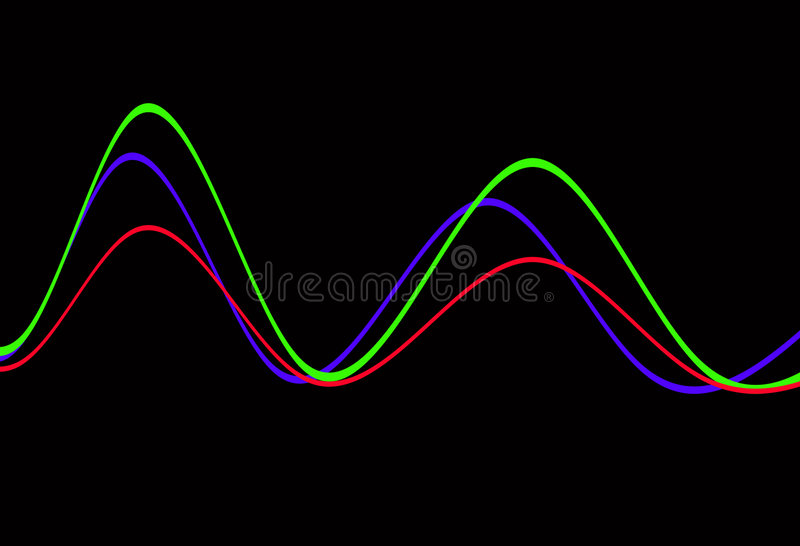Waveform 10. This is a waveform stock illustration