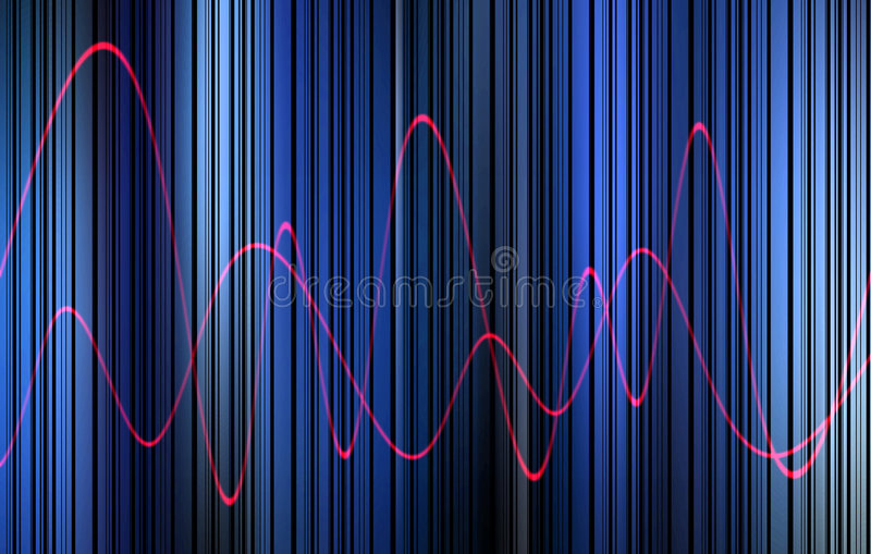 Waveform 15. This is a waveform graphic stock illustration